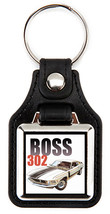 Ford 1970 Boss 302 Mustang White Key Chain Key Fob  - $7.50
