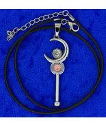 Sailor Moon Necklace Tsukino Usagi Moon Stick Anime Chain Style Length C... - $4.99+
