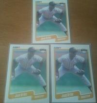 Jose Uribe 1990 Fleer Baseball Giants Card 74 Lot of 3 Cards - $1,336.49
