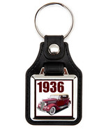 1936 Ford in maroon  Key Chain Key Fob  - $7.50