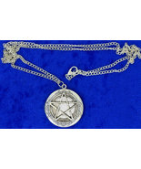 Pentagram Locket Necklace Supernatural Silver Color Chain Length Choice - $5.49+