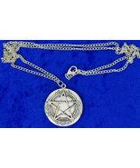 Pentagram Locket Necklace Supernatural Silver Color Chain Length Choice - $5.49+