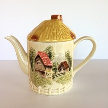 VTG M&R Marks and Rosenfeld ceramic Country Scene TEA POT coffee JAPAN v... - $29.69
