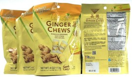4 Count Prince Of Peace Lemon Ginger Chews All Natural Gluten Free BB 7-2-2022 - $25.99