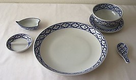 6-Piece Ceramic Dinner Set PLATE BOWL SAUCER SP... - $42.06