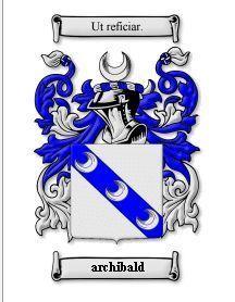 Archibald Coat of Arms Archibald Family Crest History Print  Bonanza
