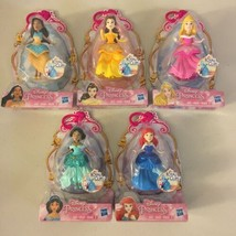 "5x Lot Set Disney Princess Royal Clips Fashion Dress 3"" Doll Hasbro Arie... - $27.71"