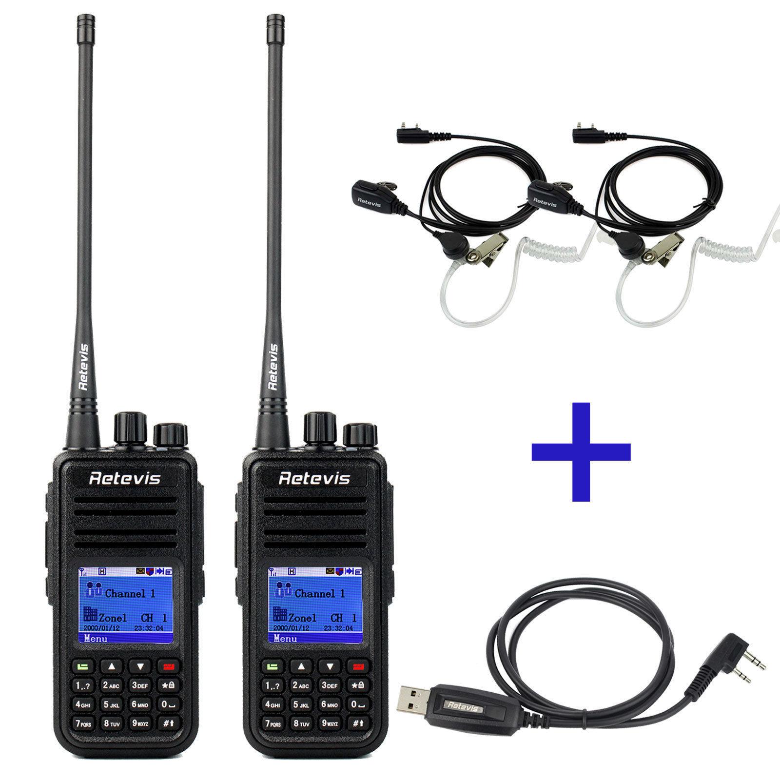 2x retevis rt3 dmr radio uhf 400 480mhz digital ham radio for Radio boden 98 2 mhz