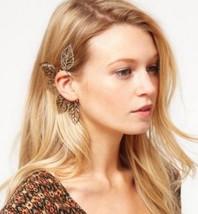 Unique Punk Style Cutout Leaves Earring(Silver) - $6.99