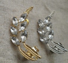 Stylish Rhinestone Branch Shaped Ear Cuff(Silver) - $6.99