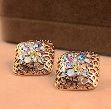Filigree Square Earrings - $6.99