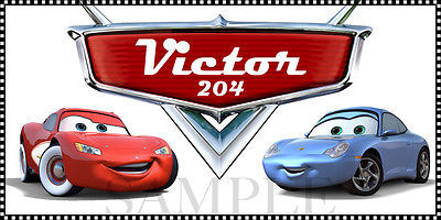 Cars Sticker - Personalized and Waterproof for Back to School Supplies - 2x4