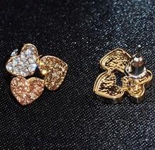 Czech Stones Heart Studs - £5.37 GBP