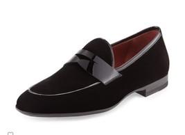 Men fashion black velvet shoes, Mens black velvet moccasins, Men casual ... - $139.99
