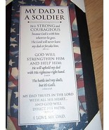 MY DAD IS A SOLDIER Black Framed Wooden Print Art Horizons Religious Pla... - $22.00
