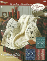 Needlecraft Shop Crochet Pattern 932022 Aran Filet Afghan Collectors Series - $4.99
