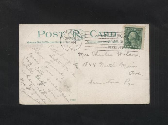 Vintage Postcard 1900s Old Spelling Pittsburg PA Pittsburgh Central High School