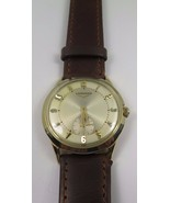 14k Yellow Gold Longines Antique Wind Up Men's Watch With Leather Band - $1,377.92