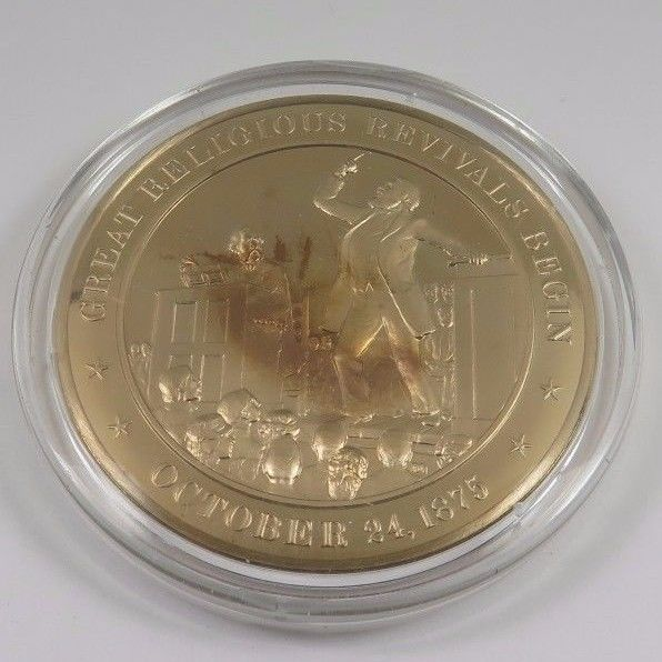 Primary image for October 24, 1875 Great Religious Revivals Begin Franklin Mint Solid Bronze Coin