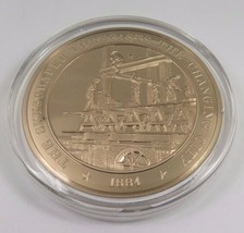 1884 The Skyscraper Forecasts The Changing City Franklin Mint Solid Bronze Coin - $12.16