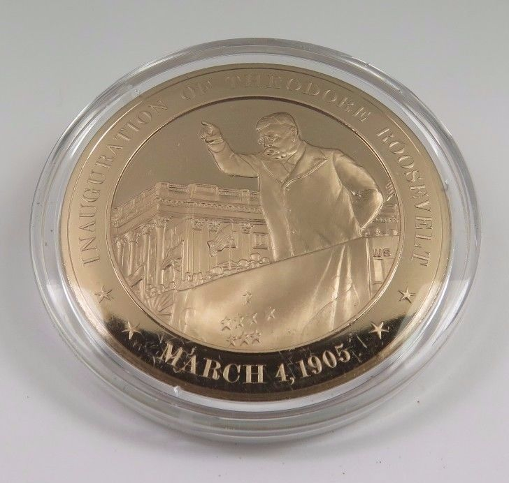 Primary image for March 4, 1905 Inauguration Of Theodore Roosevelt Franklin Mint Solid Bronze Coin