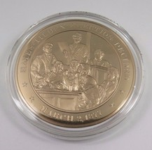 March 2, 1877 Hayes-Tilden Election Decided Franklin Mint Solid Bronze Coin - $12.16