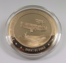 Dec. 17, 1903 First Powered Heavier Than Air Flight Franklin Mint  Bronz... - $12.16