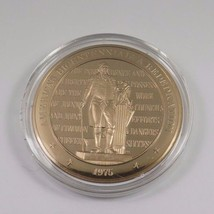 1975 America's Bicentennial: A Rededication Franklin Mint Solid Bronze Coin - $12.16
