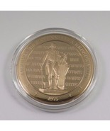 1975 America's Bicentennial: A Rededication Franklin Mint Solid Bronze Coin - £9.77 GBP