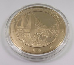 1855 Year Of Engineering Feats Franklin Mint Solid Bronze Coin American History - $12.16