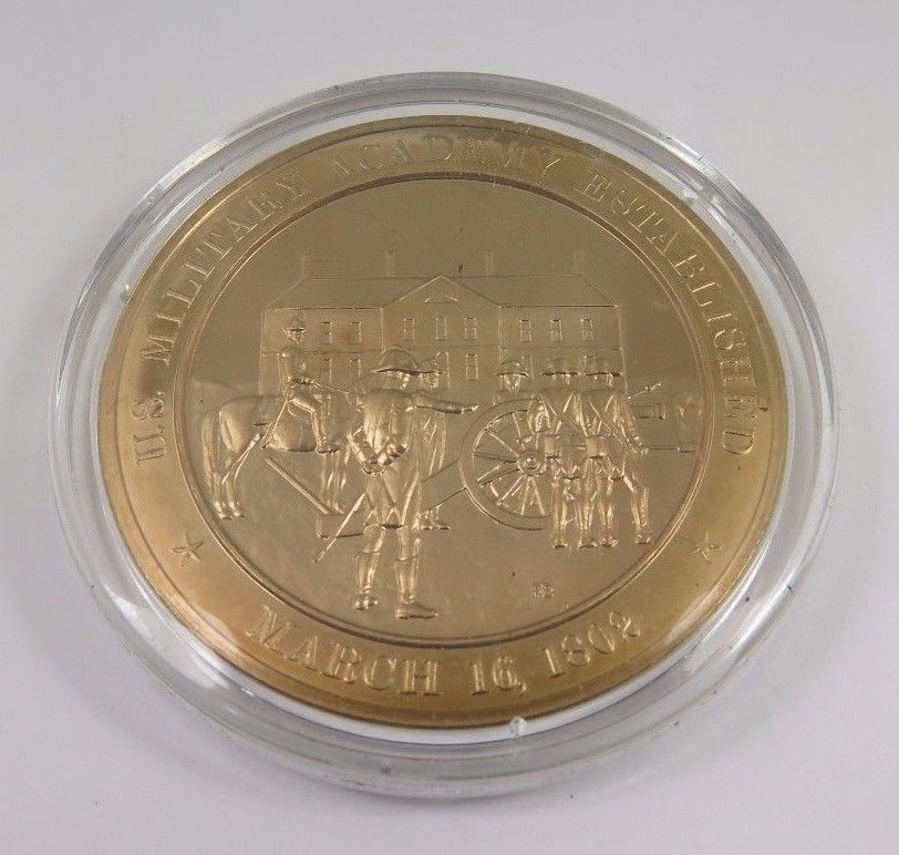 Primary image for March 16, 1802 U.S. Military Academy Established Franklin Mint Solid Bronze Coin