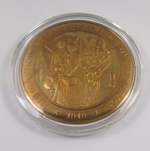 1848 Immigration Swelled By Famine And Revolution Franklin Mint Bronze Coin - $12.16