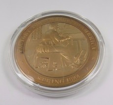 Spring 1822 Factory Towns Begin In America Franklin Mint Solid Bronze Coin - $12.16