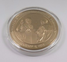 August 9, 1974 Gerald R. Ford Becomes 38th President Franklin Mint Bronze Coin - $12.16
