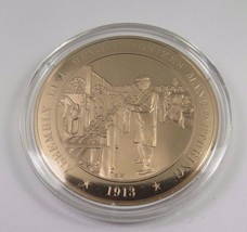 1913 Assembly Line Revolutionizes Manufacturing Franklin Mint Solid Bron... - $12.16