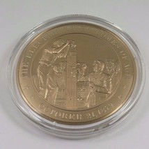 October 21, 1879 The Electric Light Comes Of Age Franklin Mint Solid Bro... - $12.16