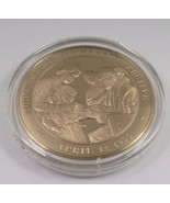 April 12, 1955 Polio Vaccine Declared Effective Franklin Mint Solid Bron... - $12.16
