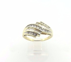 10k Yellow Gold Women's Diamond Cocktail Ring With Heart And Love Cut Ou... - $261.80