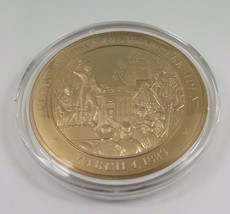March 4, 1829 Andrew Jackson Becomes President Franklin Mint Solid Bronz... - $12.16
