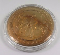 March 31, 1854 Perry Opens Trade With Japan Franklin Mint Solid Bronze Coin - $12.16