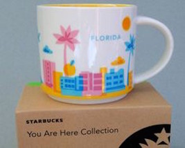 starbucks you are here florida ceramic coffee mug new with box - $16.41