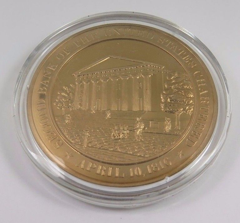 Primary image for April 10, 1816 Second Bank Of The United States Chartered Franklin Mint Coin