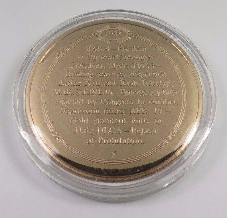FRANKLIN Mint SOLID BRONZE Uncirculated 1932 United States VETERANS Bonus