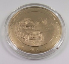 1934 Dust Storms Cause Migration Of Farmers Franklin Mint Solid Bronze Coin - $12.16