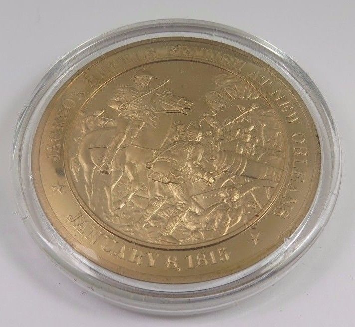 Primary image for January 8, 1815 Jackson Repels British At New Orleans Franklin Mint Bronze Coin
