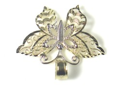 14k Two Tone Gold Fillagry Design Butterfly Charm image 5