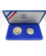 1986 Proof Statue of Liberty 2 Coin Silver Dollar & Clad Half Coins US M... - £32.15 GBP