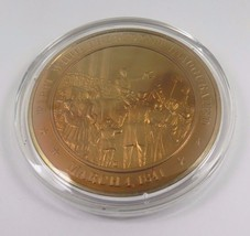 March 4, 1841 First Whig President Inaugurated Franklin Mint Solid Bronz... - $12.16