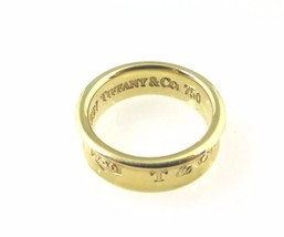 18k Yellow Gold 750 Tiffany & Co. 1997 Wedding Band 1837 T & Co 6mm - $720.04