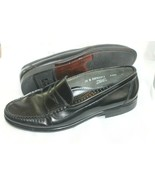 G.H. BASS & CO Mens Size10 B Black Leather Penny Loafers Shoes MADE IN USA - $29.70